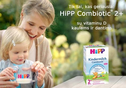 """IEŠKOME mažųjų testuotojų, kurie ragaus """"HiPP Combiotik® 2+"""" pieno gėrimą"""