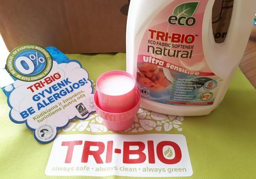 Testuoju TRI-BIO produkciją - Natūralus EKO skalbinių minkštiklis.