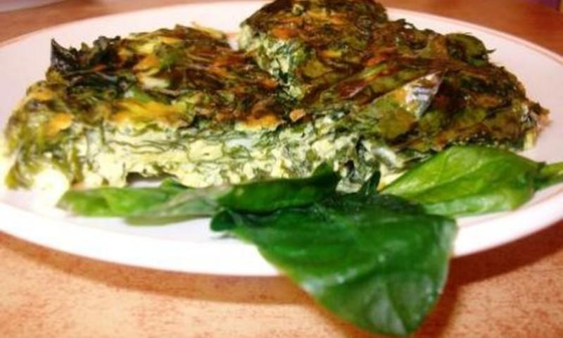 Špinatų omletas