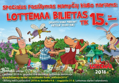 Aplankyk LOTĖS pramogų parką Estijoje su visa šeima!
