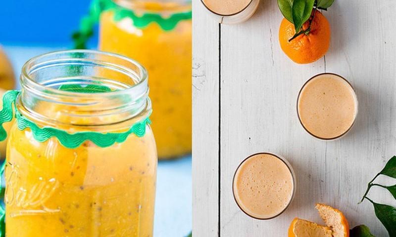 Imuniteto stiprinimui - mandarinų ir imbiero kokteilis