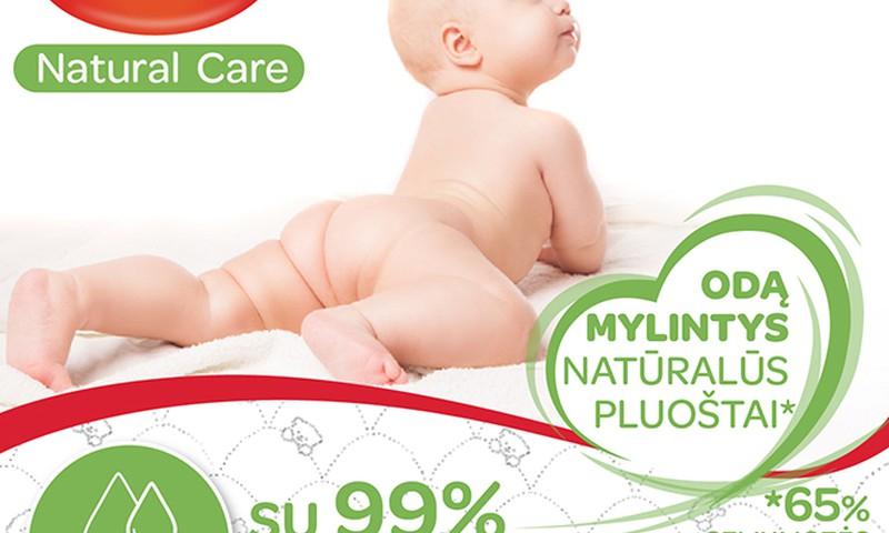 HUGGIES® Natural care - ypatingai mažylio odos priežūrai