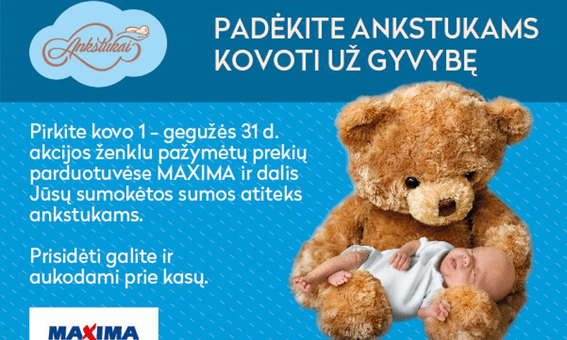 """""""Maximoje"""" vykstanti iniciatyva kviečia kovoti už kūdikių gyvybę"""