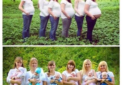 Panevėžio mamų idėja fotosesijai - PRIEŠ ir PO!