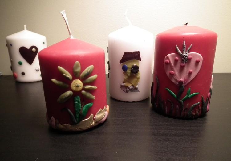 Dekoruojame žvakeles
