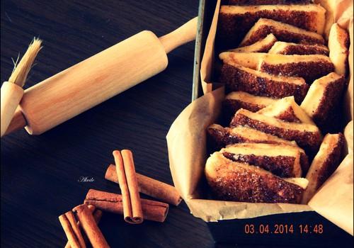Savaitgalio receptas: Cinamoninių juostelių pyragas