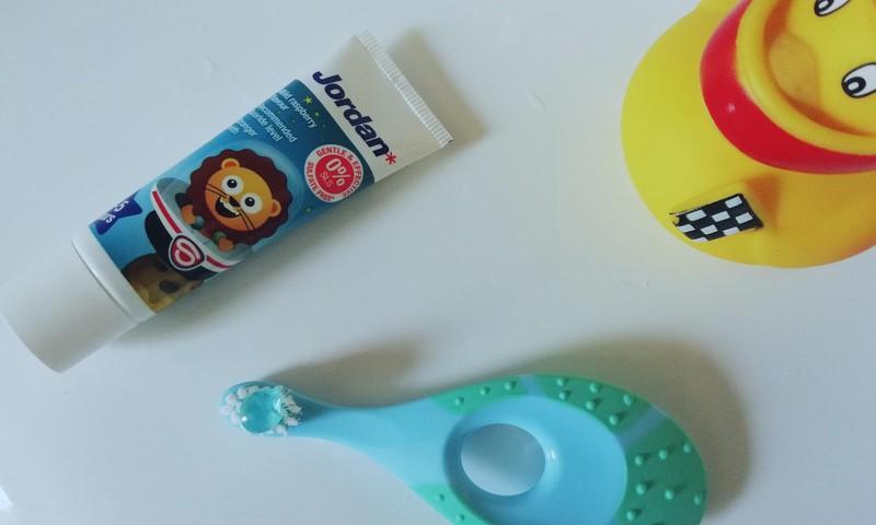 JORDAN dantų pasta ir šepetėlis