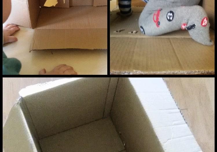 Kūrybos kambarys: duoklė kartono dėžėms ir mūsų mažiesiems