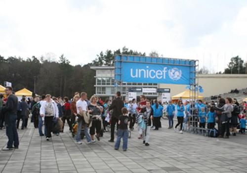 """Reportažas iš UNICEF vaikų """"maratono"""""""
