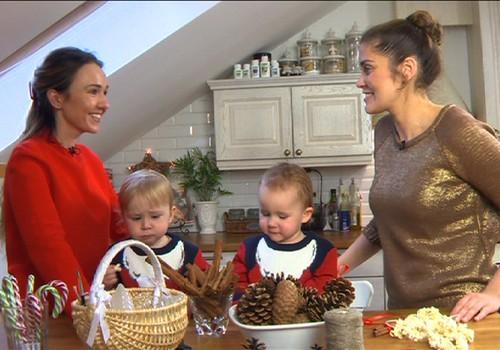 Laikas su vaikais: gaminame kalėdines girliandas