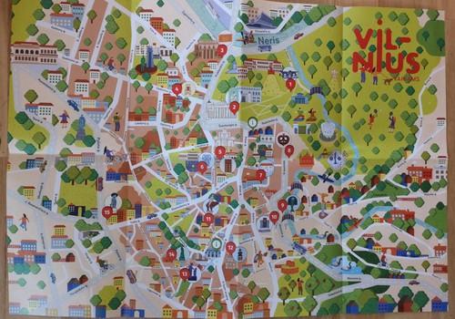 Vilniaus miesto senamiesčio užduočių žemėlapis vaikams