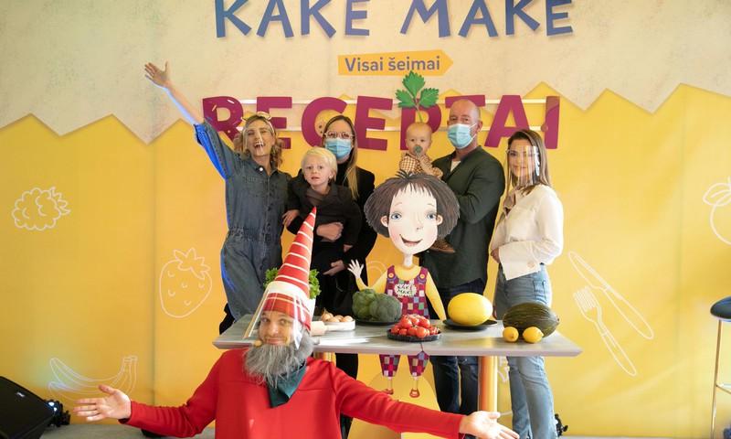 """Garsios maisto tinklaraštininkės pristatė receptų vaikams knygą """"Kakė Makė. Receptai"""""""