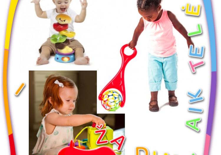 Žaislų naujienos: originali piramidė, formų kubas ir stumdukas