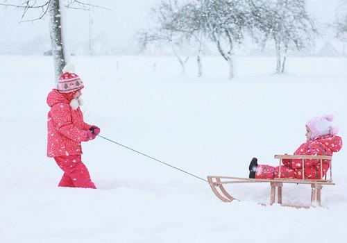Ilgai lauktas sniegas. Valio!!!