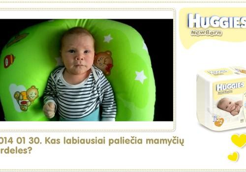 Hubertas auga kartu su Huggies ® Newborn: 40 gyvenimo diena