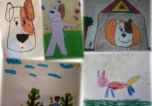 """Vaikai piešia Reksą arba kas laimi knygą """"Reksiuko istorijos"""""""