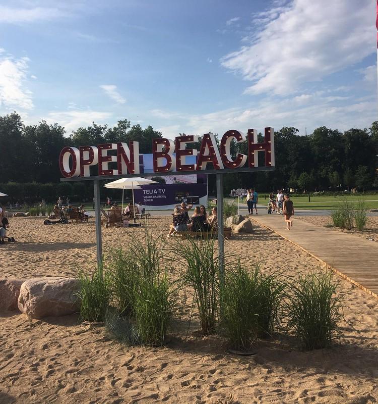 Open beach Vilniuje