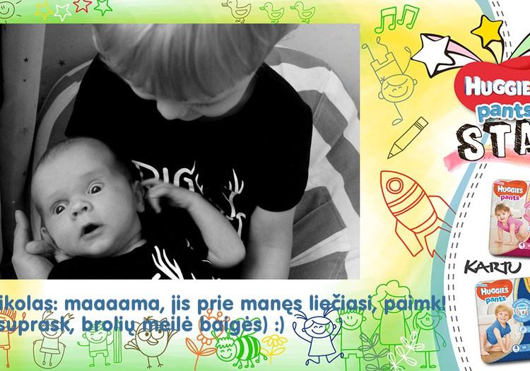 Lukas: Aaaaa! Kas čia mane laiko, mama?!